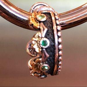 Konstantino Chrome Diopside 18K Gold & SS Earrings